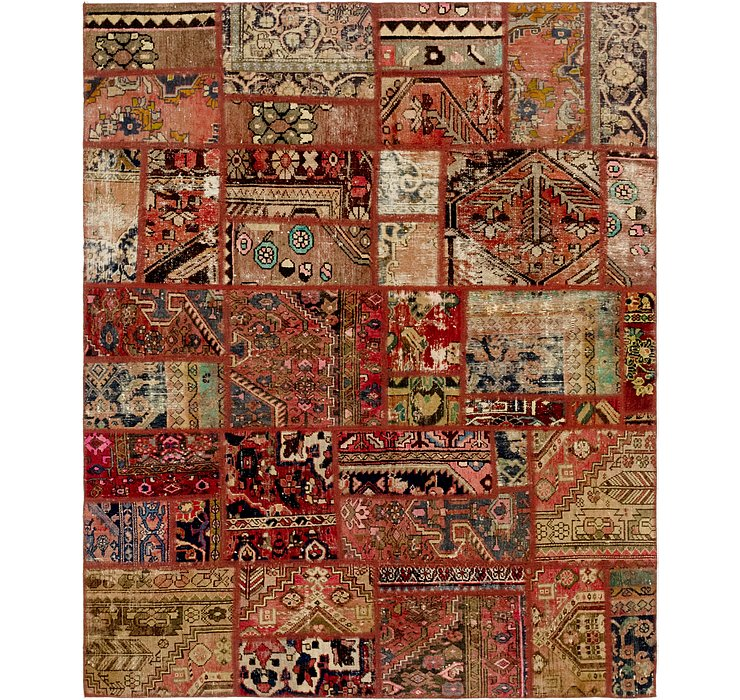 HandKnotted 6' x 7' 6 Ultra Vintage Persian Rug