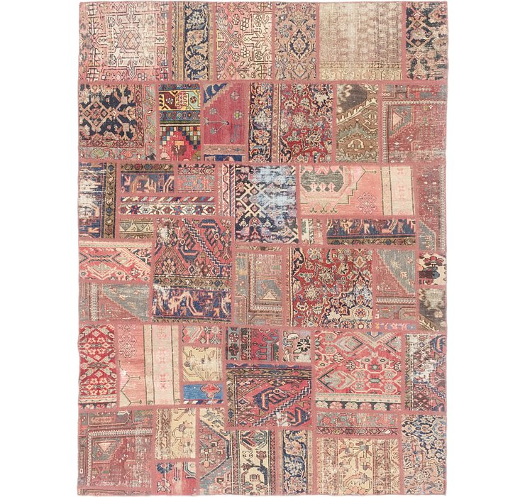 HandKnotted 6' 9 x 9' 4 Ultra Vintage Persian Rug
