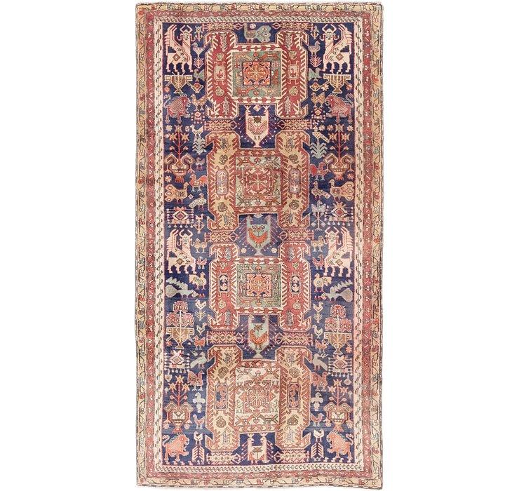 4' 8 x 9' Meshkin Persian Rug