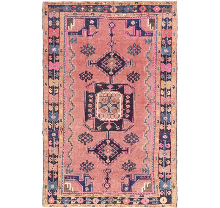 4' 8 x 7' 5 Hamedan Persian Rug