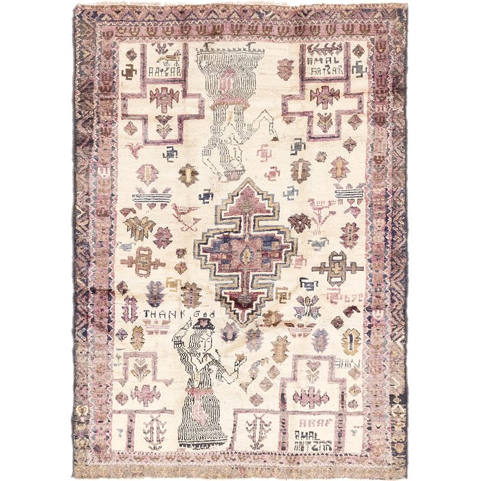 4' 4 x 6' 5 Shiraz-Lori Persian Rug