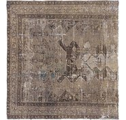 Link to 142cm x 152cm Ultra Vintage Persian Square Rug