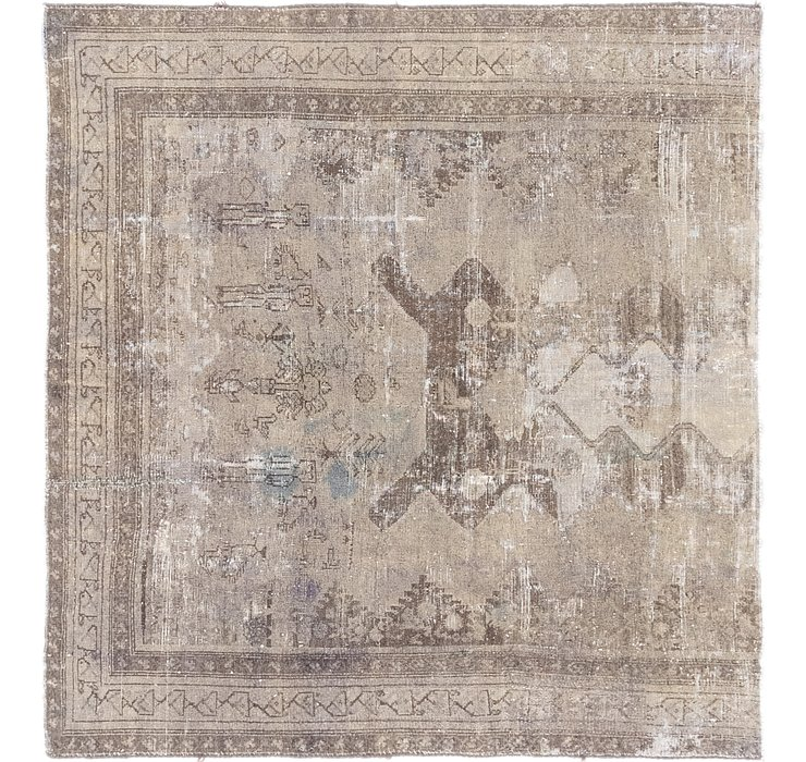 142cm x 152cm Ultra Vintage Persian S...