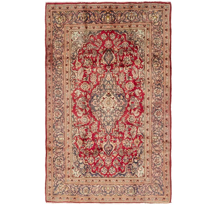 4' 10 x 7' 8 Mashad Persian Rug
