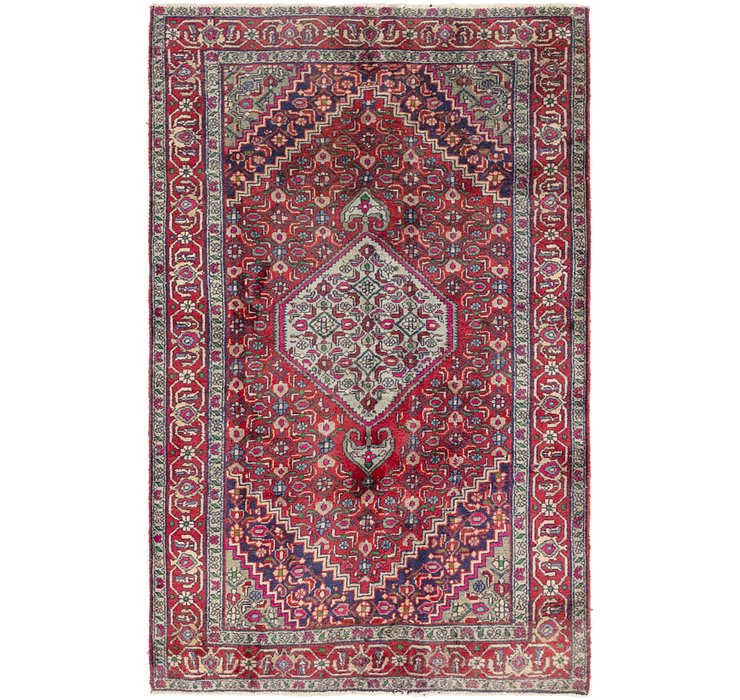 4' 4 x 6' 9 Gholtogh Persian Rug
