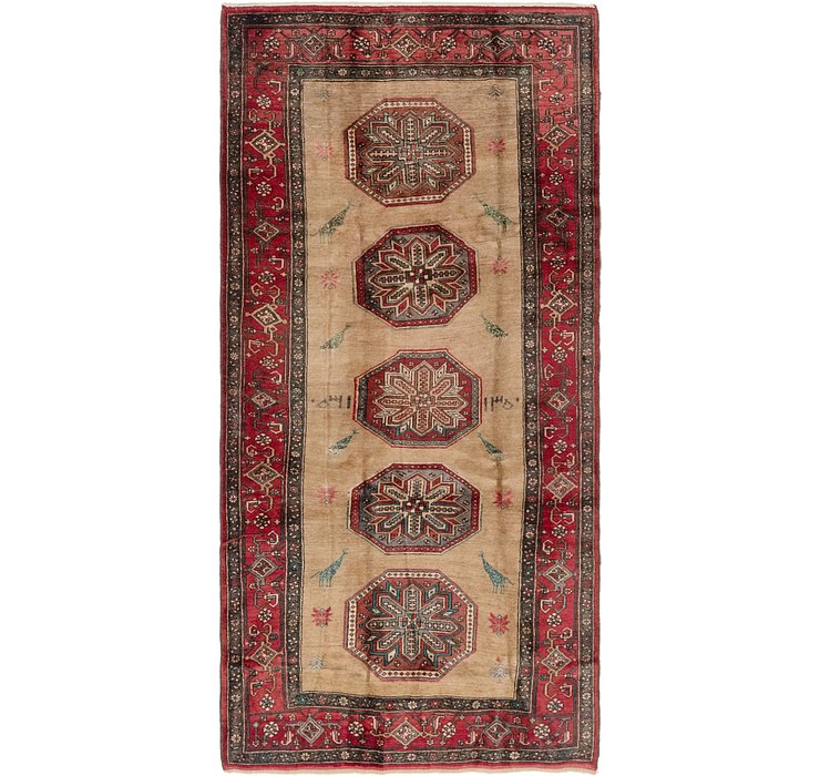 4' 10 x 10' Gholtogh Persian Runner...