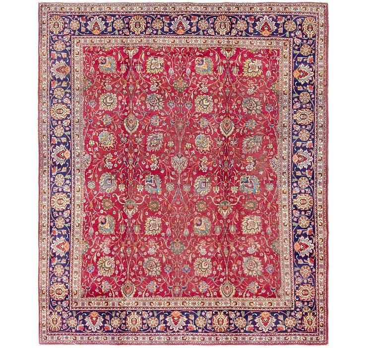9' 8 x 11' 4 Tabriz Persian Square Rug
