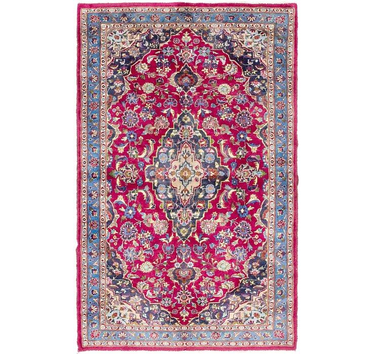 4' x 6' 6 Mashad Persian Rug
