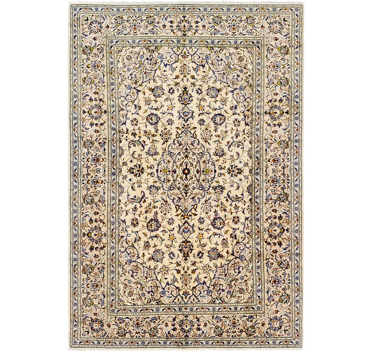 6' 8 x 9' 7 Kashan Persian Rug