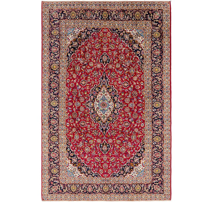 HandKnotted 8' 3 x 13' Kashan Persian Rug