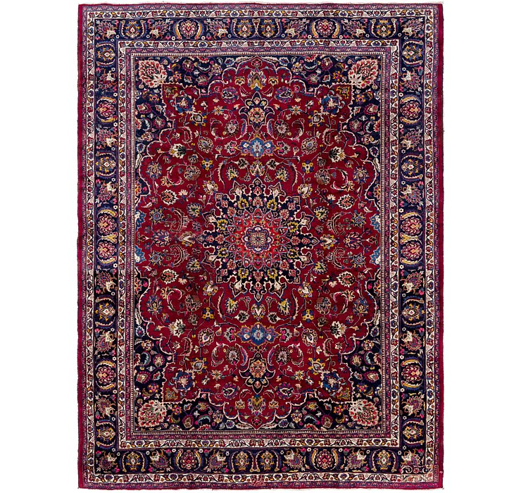 HandKnotted 9' 9 x 12' 7 Mashad Persian Rug