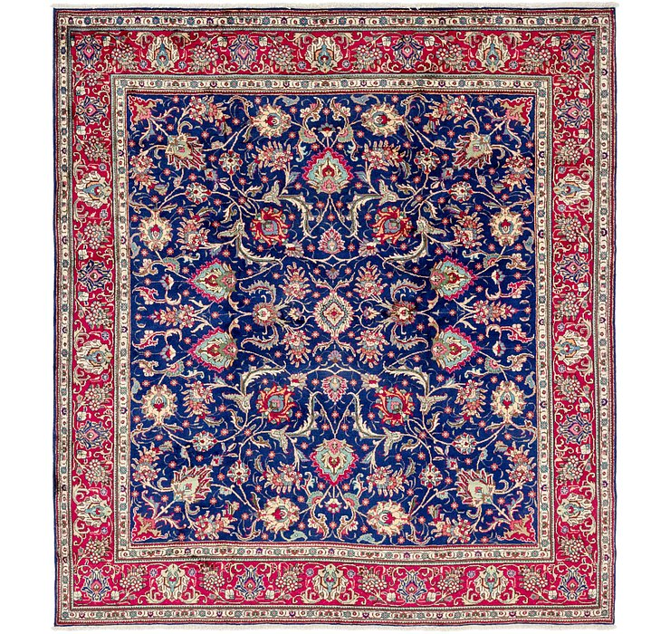 9' 9 x 11' Tabriz Persian Square Rug