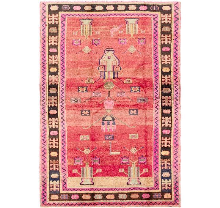 4' 7 x 6' 8 Hamedan Persian Rug