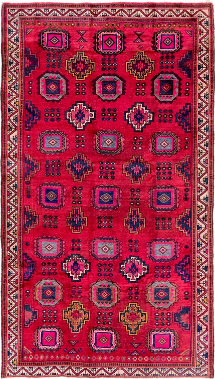 Red  6' x 10' 7 Hamedan Persian Runner