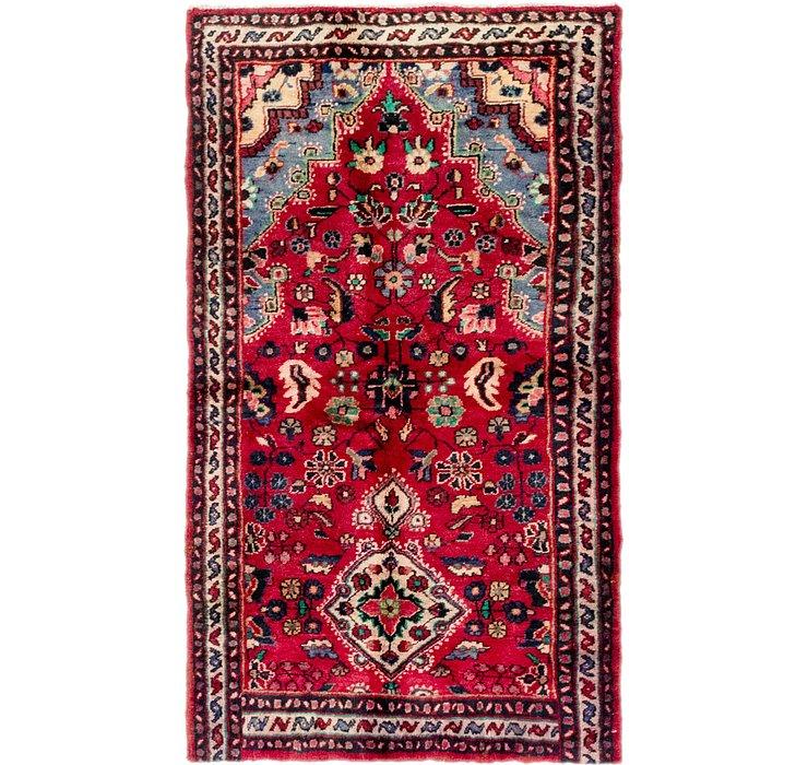 3' 7 x 6' Hossainabad Persian Rug