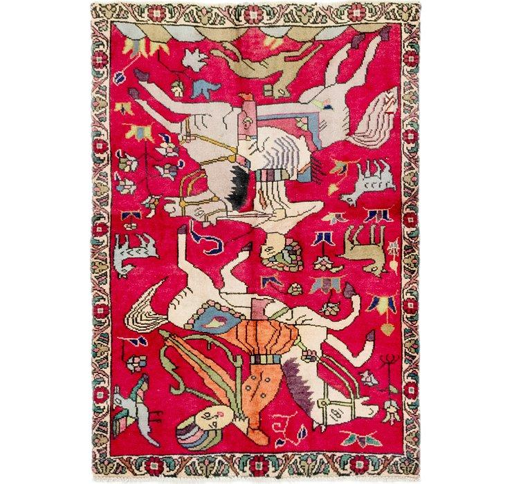 3' 7 x 5' 3 Tabriz Persian Rug