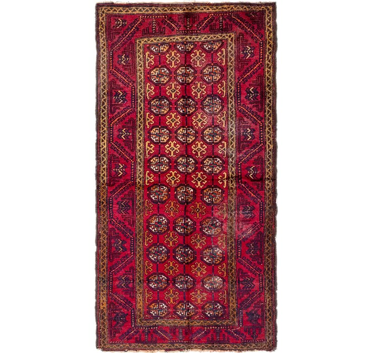 3' 3 x 6' 2 Balouch Persian Rug
