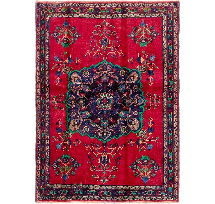4' 4 x 5' 10 Hamedan Persian Rug