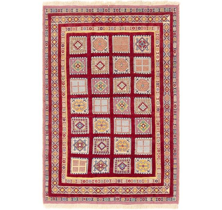 4' 6 x 6' 9 Ghoochan Persian Rug