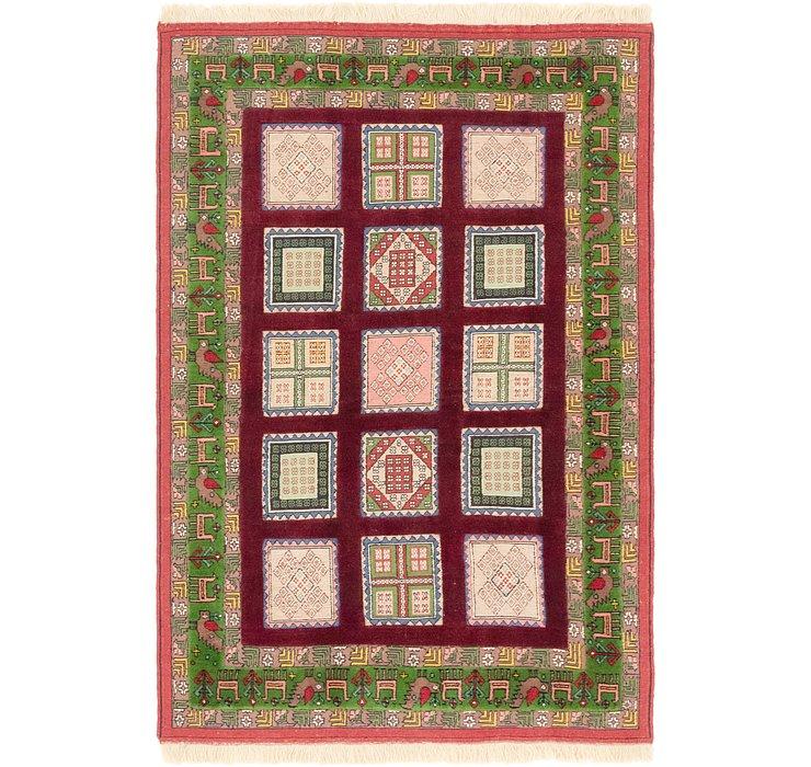 4' 3 x 6' 6 Ghoochan Persian Rug