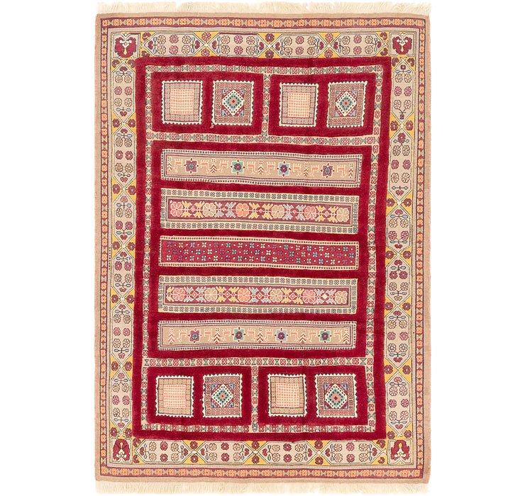 4' 7 x 6' 10 Ghoochan Persian Rug