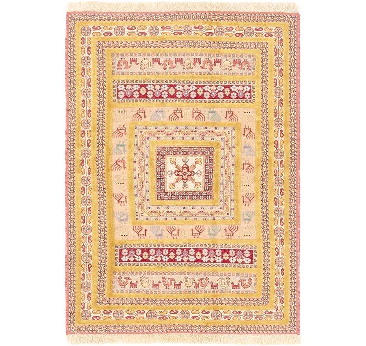 4' x 5' 9 Ghoochan Persian Rug