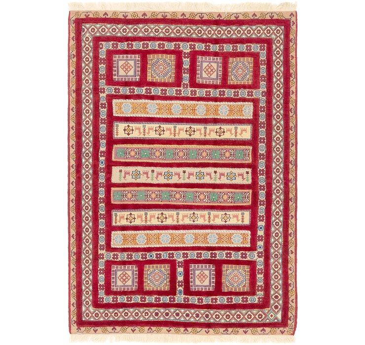 4' 4 x 6' 7 Ghoochan Persian Rug