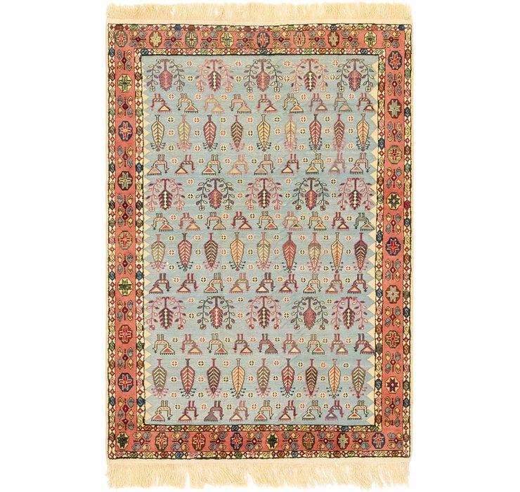 4' 4 x 6' 10 Ghoochan Persian Rug