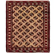 Link to 110cm x 127cm Balouch Persian Square Rug