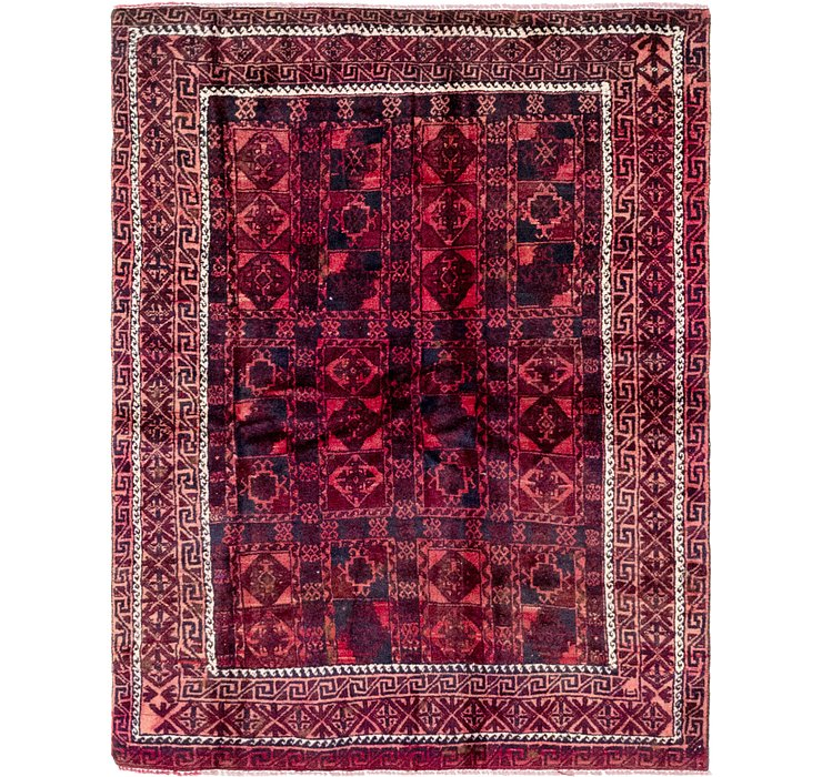 4' 5 x 4' 6 Balouch Persian Square ...