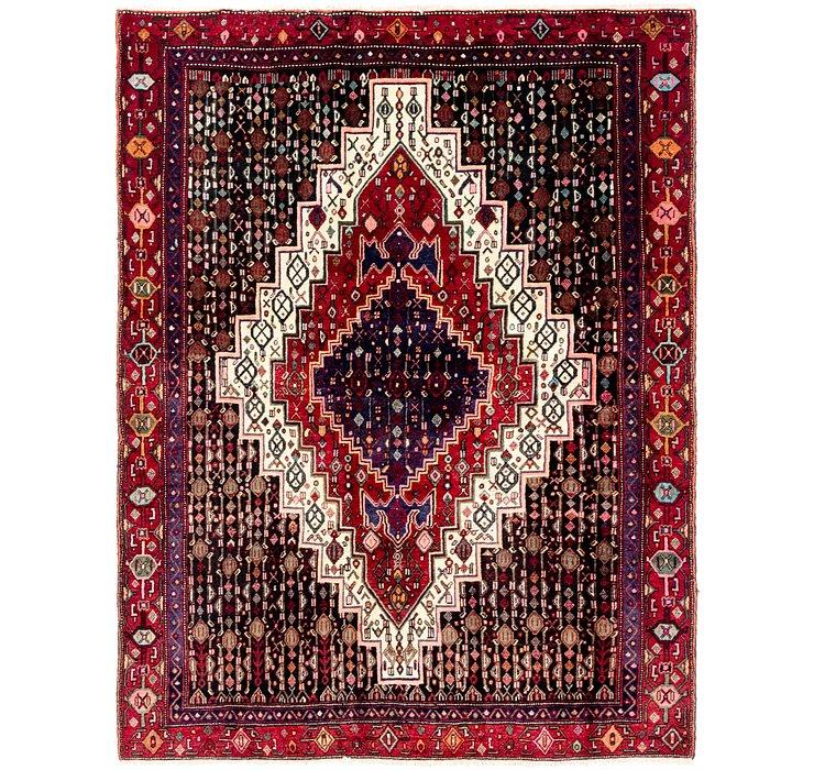 4' 8 x 6' Senneh Persian Rug