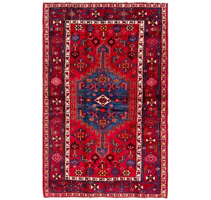 4' 3 x 6' 9 Hamedan Persian Rug
