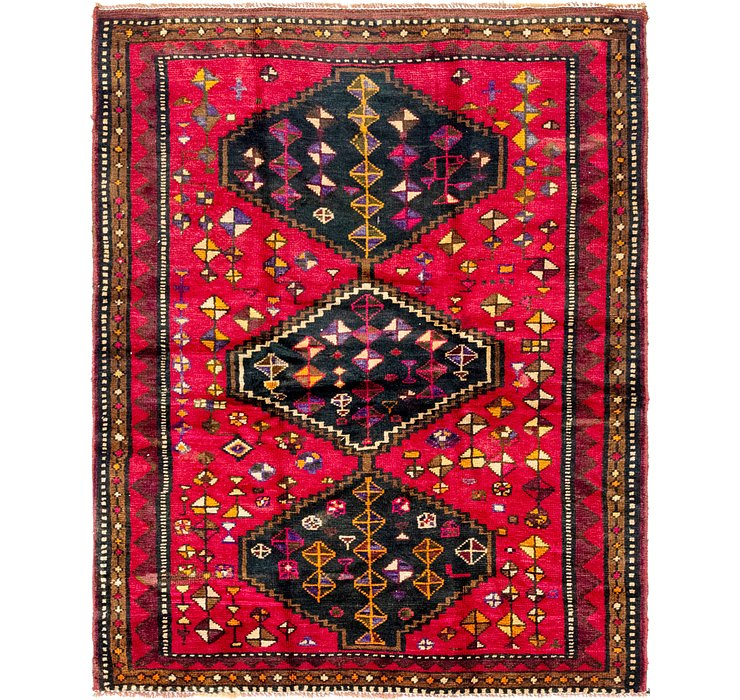 5' x 6' 3 Shiraz Persian Rug