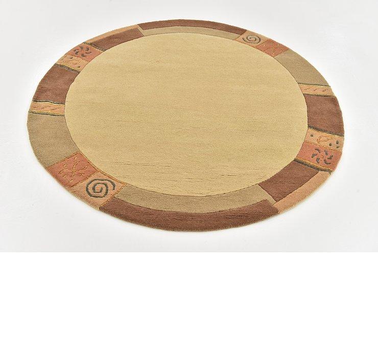 5' x 5' Indo Tibet Round Rug