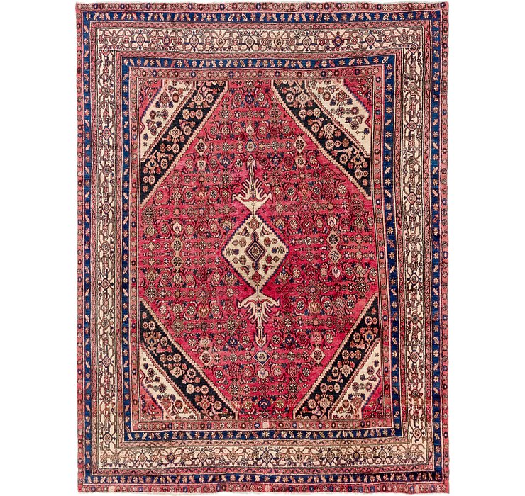 9' x 12' Hamedan Persian Rug