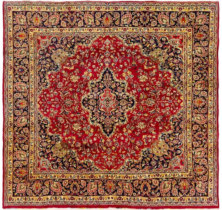 9' 4 x 9' 6 Mashad Persian Square Rug