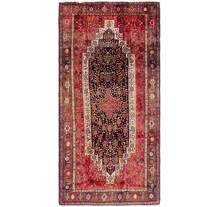 4' 10 x 10' Senneh Persian Runner Rug