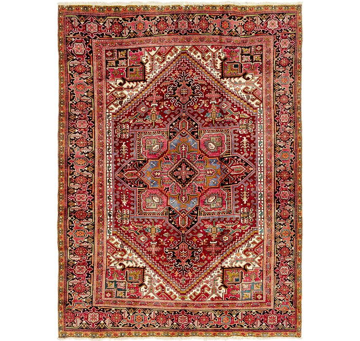 8' x 10' 8 Heriz Persian Rug