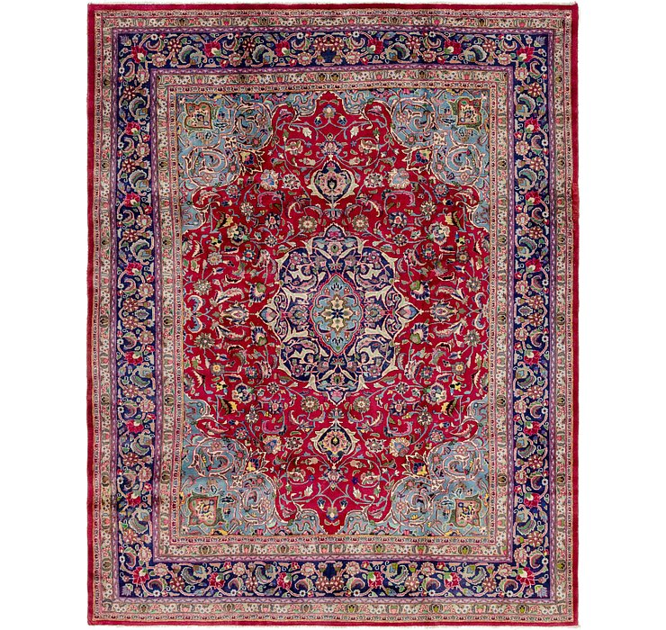 HandKnotted 9' 7 x 12' 4 Mashad Persian Rug