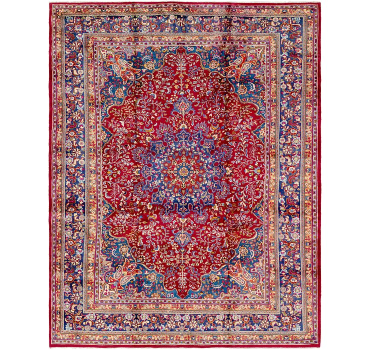 HandKnotted 9' 9 x 12' 6 Mashad Persian Rug