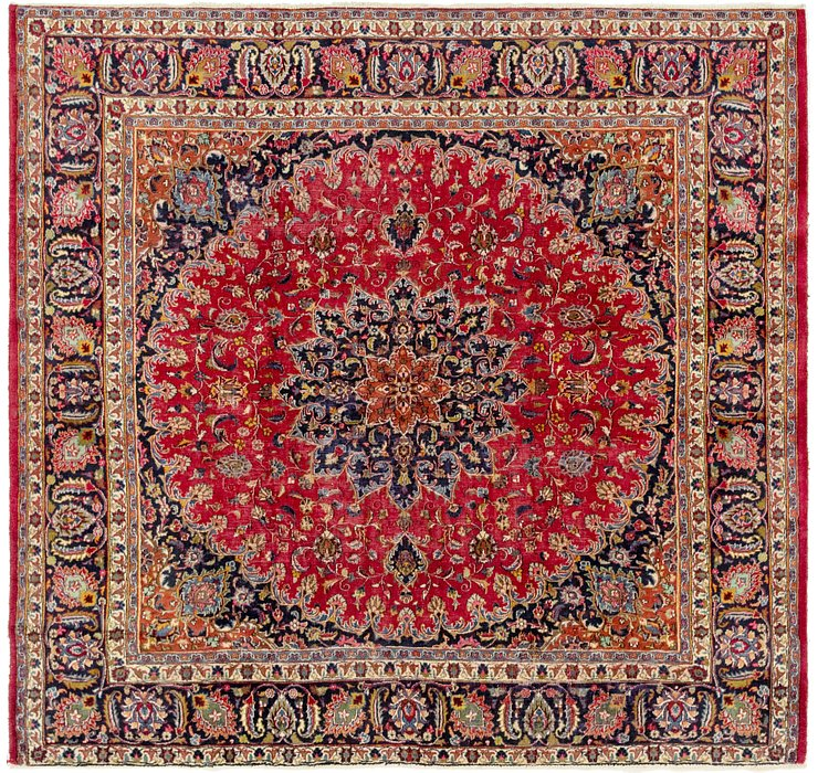 HandKnotted 9' 2 x 9' 7 Mashad Persian Octagon ...