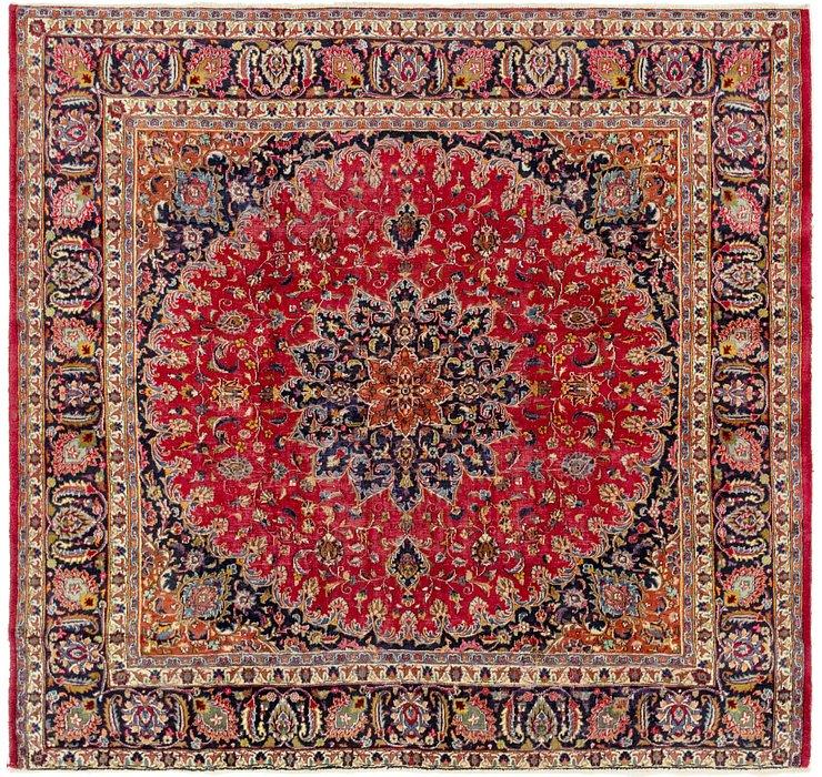 9' 2 x 9' 7 Mashad Persian Square Rug