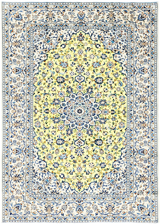 Yellow 8 X 11 3 Nain Persian Rug Erugs