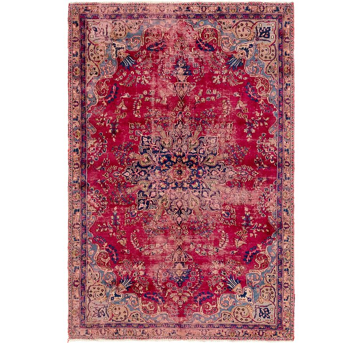 5' 9 x 8' 10 Mashad Persian Rug