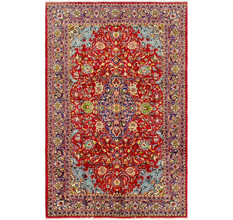 7' x 10' 7 Golpayegan Persian Rug