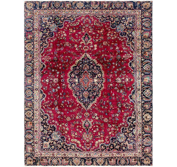 HandKnotted 9' x 11' 4 Mashad Persian Rug