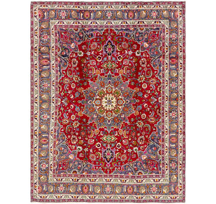 HandKnotted 9' 6 x 12' 6 Mashad Persian Rug
