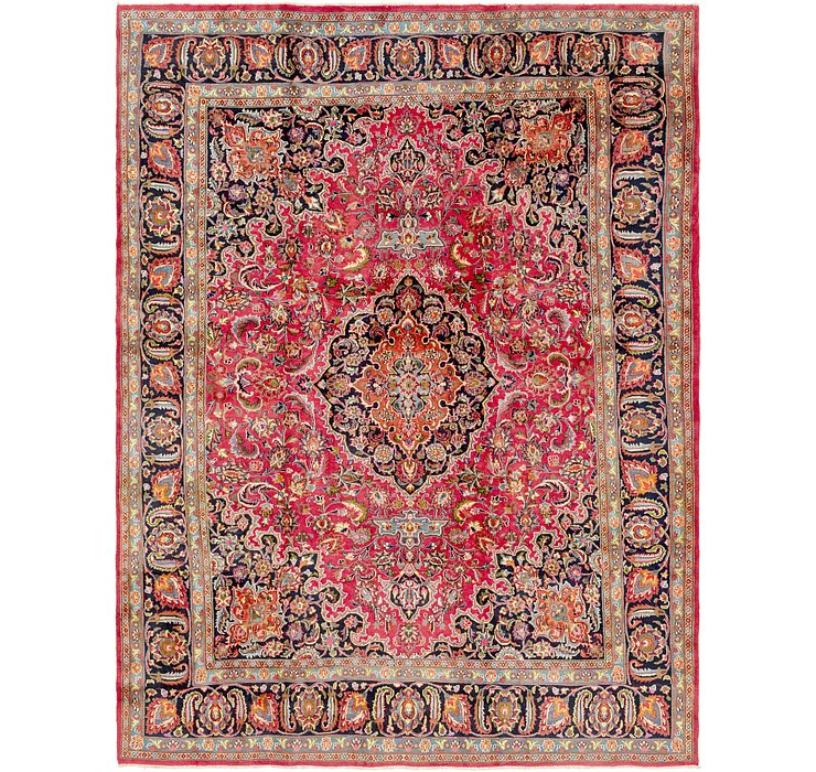 HandKnotted 9' 6 x 12' 7 Mashad Persian Rug