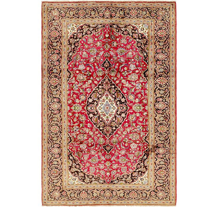 HandKnotted 6' 7 x 10' Mashad Persian Rug