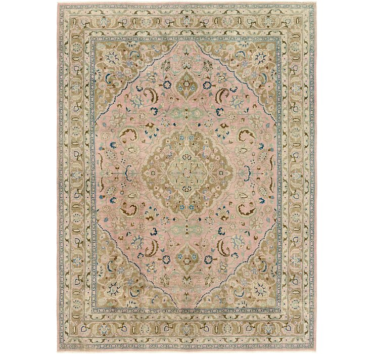 HandKnotted 9' 7 x 12' 10 Ultra Vintage Persian Rug